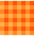 Orange Flower Chessboard Background vector image vector image