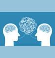 people talking nonsense speech head person vector image