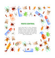 pest control banner template with space for text vector image vector image