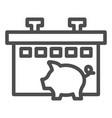 pig farm line icon animal vector image