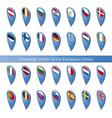 pins flags european union vector image