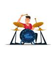 professional drummer flat vector image vector image