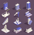 real estate isometric set vector image vector image