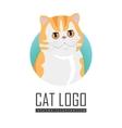 Red Exotic Cat Flat Design vector image