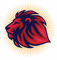 red lion logo template vector image vector image