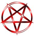 red pentagram vector image vector image