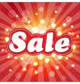 Red Sale Poster With Sunburst vector image vector image