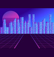 retro futuristic city in the style of the 80s vector image vector image