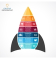 rocket infographic diagram chart graph vector image vector image