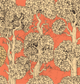 Seamless pattern of gold enchanted old trees vector image vector image