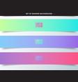 set banner web vibrant color background vector image vector image