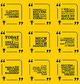 Set of motivational quotes about action hard work vector image vector image