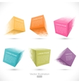 set pixelated cube banners vector image