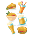 snack collection vector image