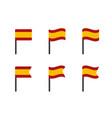 spain flag symbols set spanish national flag vector image vector image