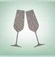 sparkling champagne glasses brown flax vector image vector image