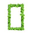 square frame clover vector image