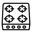 stove icon outline style vector image