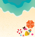 Summer holiday background with boy and girl vector image vector image
