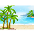 Summer theme with beach and ocean vector image vector image