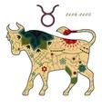 Taurus zodiac sign retro vector image vector image