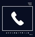 telephone handset symbol telephone receiver icon vector image vector image