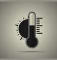 thermometer with sun vector image vector image