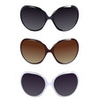 three female pairs of sunglasses vector image