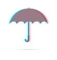 Umbrella anagliph icon with shadow vector image vector image