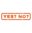 Yes Question No Question Rubber Stamp vector image vector image