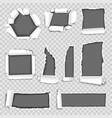 paper torn holes isolated set on vector image