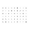 Abstract Icons vector image vector image
