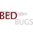 articles on bed bugs text background word cloud vector image vector image