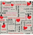 background to the Valentines Day in vintage style vector image vector image