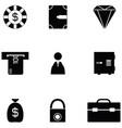 bank icon set vector image vector image