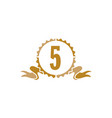 best quality ribbon number 5 vector image