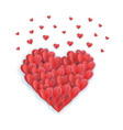 big valentine s heart decorative heart background vector image vector image