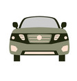 car front flat vector image