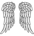 Cartoon angel wings vector image vector image