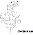 Cartoon character crocodile vector image vector image