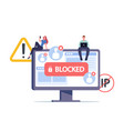 censorship blocking or ransomware activity vector image vector image