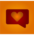 chat boxing with a heart vector image vector image