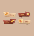 collection of elegant tape or ribbon banners with vector image vector image