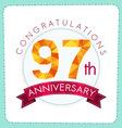 colorful polygonal anniversary logo 3 097