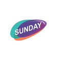 colorful sunday icon vector image vector image