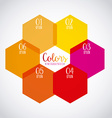 colors infographics vector image