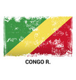 congo democratic republic flag design vector image