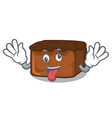 crazy brownies mascot cartoon style vector image vector image