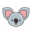 cute scribble koala face cartoon vector image vector image