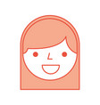 cute woman head character vector image vector image
